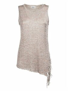 Dondup Sleeveless Asymmetric Frayed T-shirt