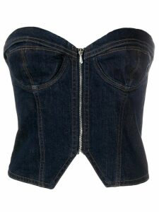 Katharine Hamnett London denim corset top - Blue