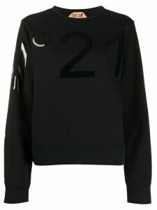 Nº21 tonal logo stamp sweatshirt - Black