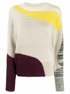 Isabel Marant Étoile Galith colour-block jumper - NEUTRALS
