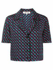 DVF Diane von Furstenberg Cheryl crepe de chine shirt - Black