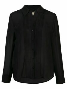 L'Agence sheer blouse - Black