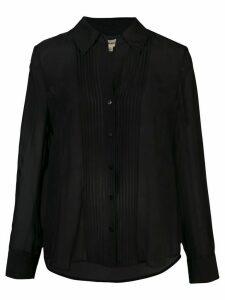 L'Agence sheer blouse - Black