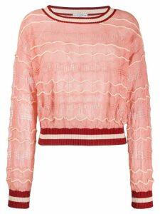Ballantyne fine knit jumper - PINK