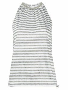 Fabiana Filippi brass-embellished striped top - Grey