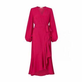 Kitri Anissa Berry Wrap Dress