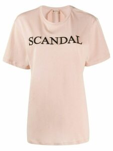 Nº21 Scandal embroidered T-shirt - PINK