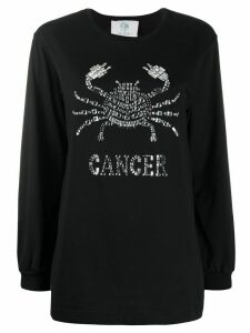 Alberta Ferretti Cancer crystal-embellished jumper - Black