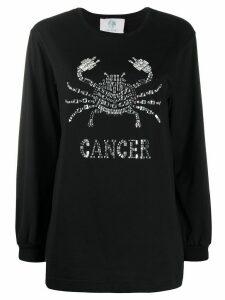 Alberta Ferretti Cancer crystal-embellished jumper - Black