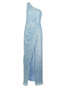 Jay Godfrey one-shoulder sequin gown - Blue
