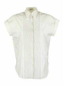 Brunello Cucinelli Stretch Cotton Shirt With Shiny Bib