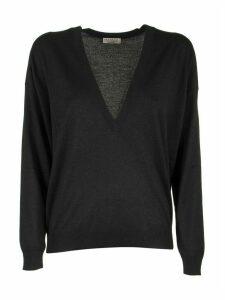 Brunello Cucinelli Scoop Neck Cashmere And Silk Sparkling Yarn Lightweight Sweater