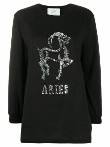 Alberta Ferretti Aries crystal-embellished jumper - Black