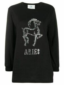 Alberta Ferretti Aries crystal-embellished jumper - Black