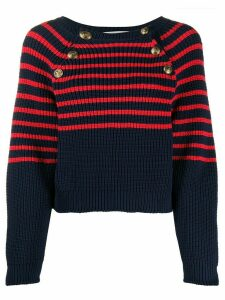 Philosophy Di Lorenzo Serafini striped buttoned jumper - Blue