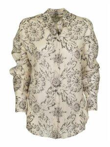 Brunello Cucinelli Silk Shirt Exotic Silk Pongee Shirt