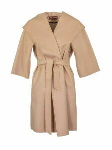 Max Mara Cashmere And Wool Coat Vik Pink