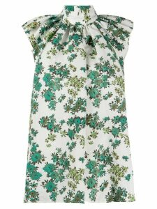 Victoria Victoria Beckham gathered neck blouse - Green