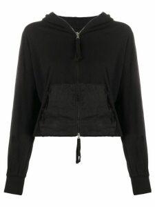 Thom Krom crinkled panel hoodie - Black
