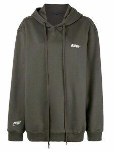 Ader Error oversized fit hoodie - Green
