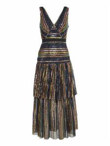 self-portrait Long Multicolor Sequins Dresss