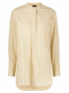 Joseph Aubrey mock collar tunic shirt - NEUTRALS