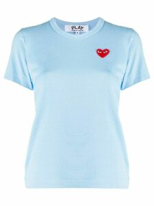 Comme Des Garçons Play heart logo embroidered T-shirt - Blue