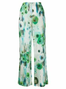 Antonelli elasticated floral print trousers - Green