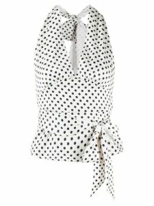 Alexa Chung polka dot-print wrap top - NEUTRALS