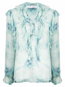 IRO Cruis sheer ruffled blouse - Blue