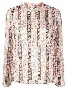 Isabel Marant Étoile mandarin collar floral print shirt - PINK