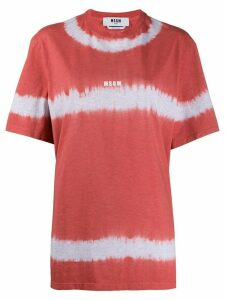MSGM oversized tie-dye T-shirt - Red