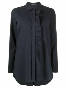 Luisa Cerano long sleeve pleated placket shirt - Blue