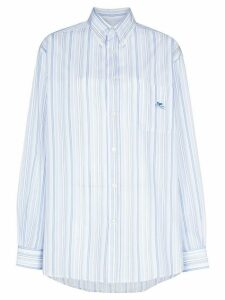 Etro striped button-down shirt - Blue