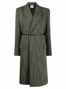 Bottega Veneta structured belted coat - Black
