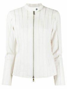 Desa 1972 zipped leather jacket - White