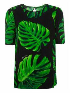 Dolce & Gabbana Leaf Printed Blouse