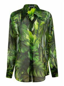 Dolce & Gabbana Leaf Printed Shirt