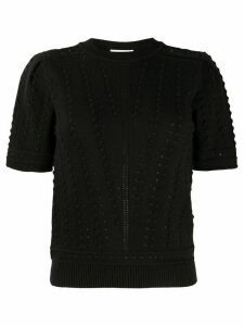 See by Chloé pompom knitted top - Black