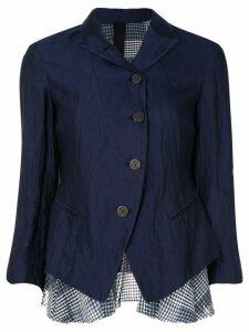 Forme D'expression shrunken checked layer jacket - Blue