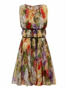 Dolce & Gabbana Floral Print Sleeveless Dress