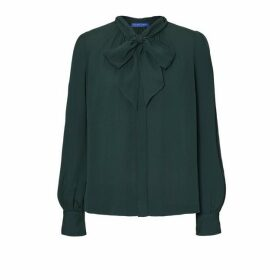 Winser London Georgette Blouse With Bow