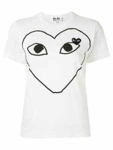 Comme Des Garçons Play logo-patch printed T-shirt - White