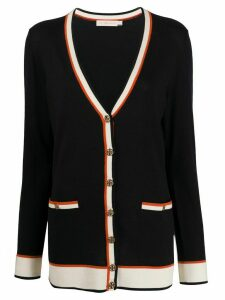 Tory Burch deep V-neck cardigan - Blue