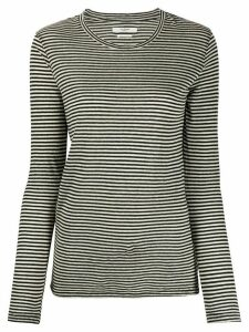 Isabel Marant Étoile long sleeve striped print top - NEUTRALS