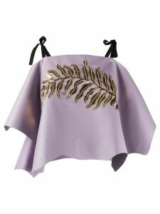 Prada sequin-embellished asymmetric top - PURPLE