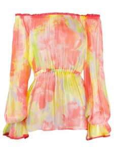 Pinko floral-print crinkled blouse