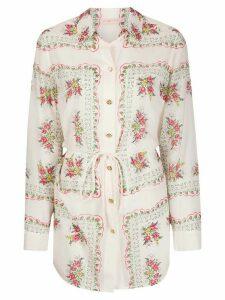 Tory Burch Brigitte floral-print shirt - NEUTRALS