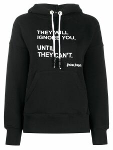Palm Angels statement-print oversized hoodie - Black