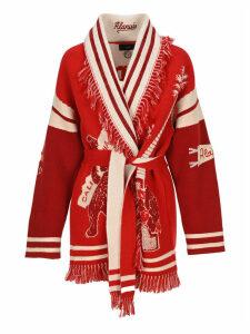 Alanui La Scala Intarsia-knit Cardigan